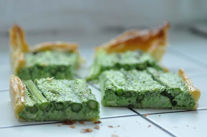 asparagus tarte complete
