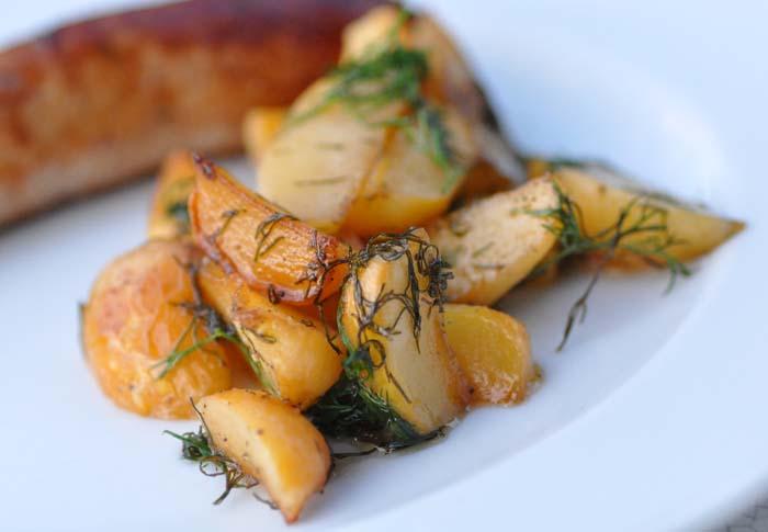 turnips and sausage
